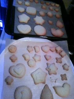 子供たちが作ったバタークッキー