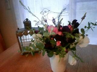 お庭のお花で…