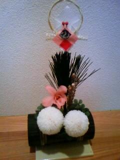 プリザーブドフラワーのお正月飾り